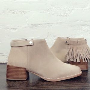 New Sol Sana ankle boots w/ removable fringe